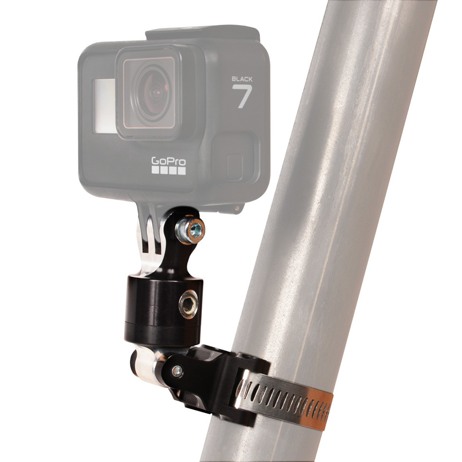Joes Racing GoPro Camera Clamp On, Adjustible Roll Bar Mount, Aluminum, Black