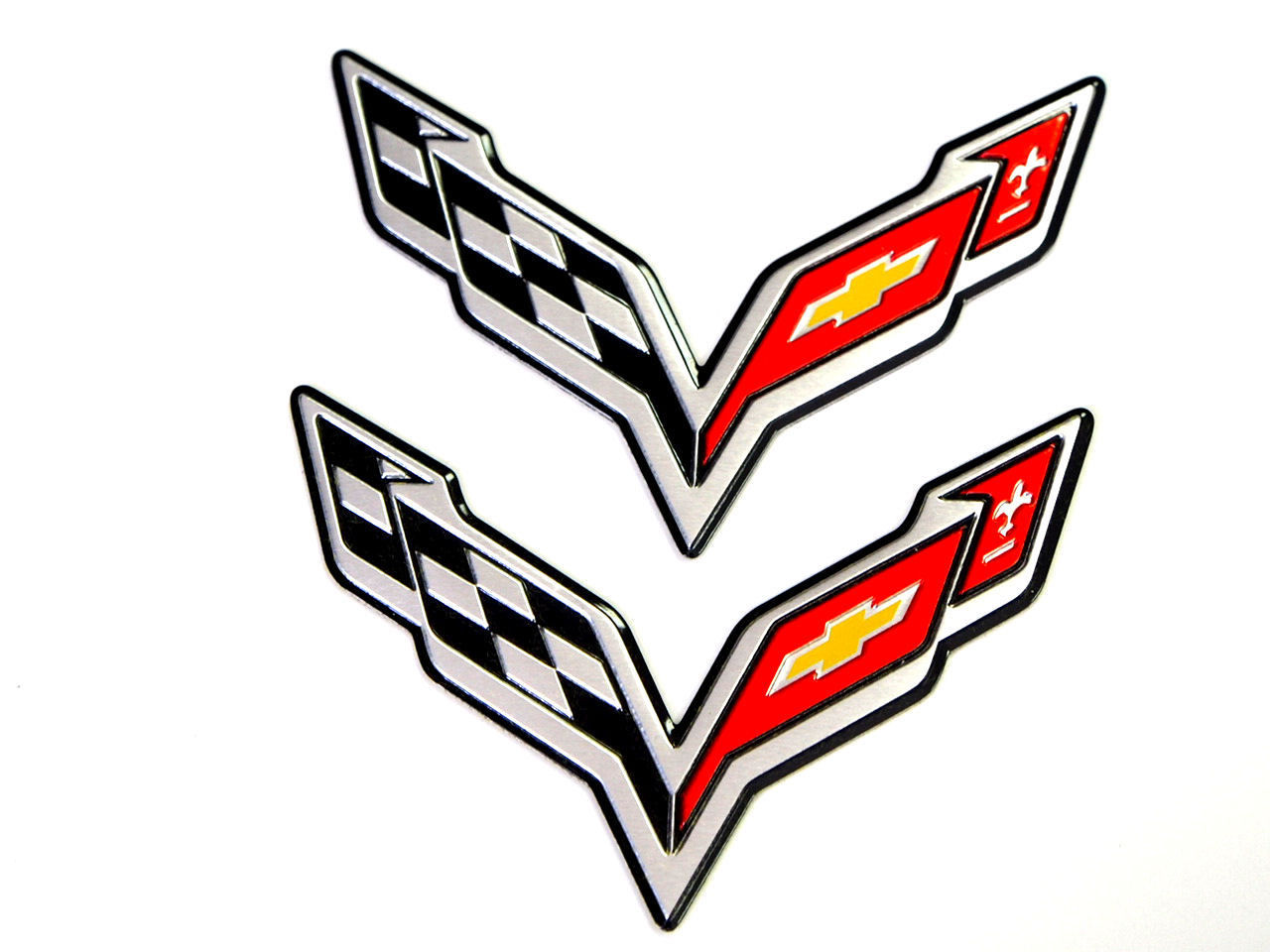 C7 Corvette Stingray Flag, C7 Emblems, C7 Corvette Emblem, Fender Badges, Pair
