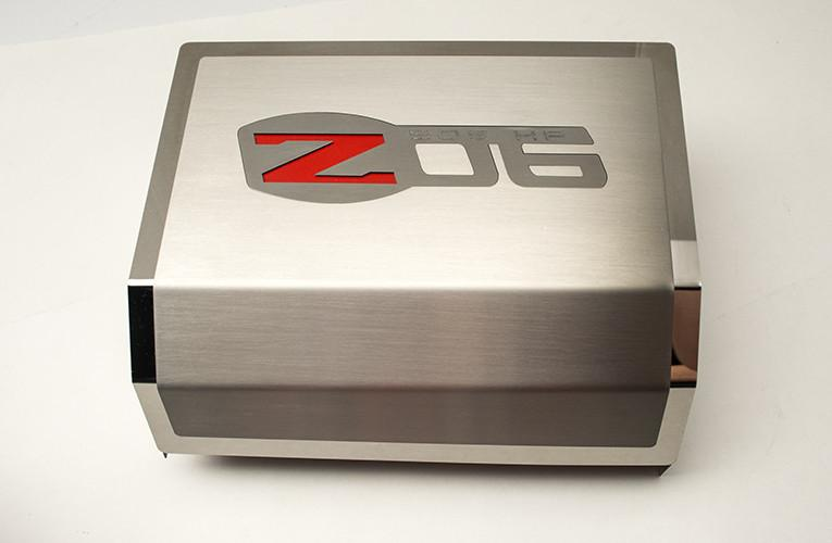 2006-2013 Z06 Corvette, Fuse Box Cover Brushed/Polished Combo with Z06 Logo