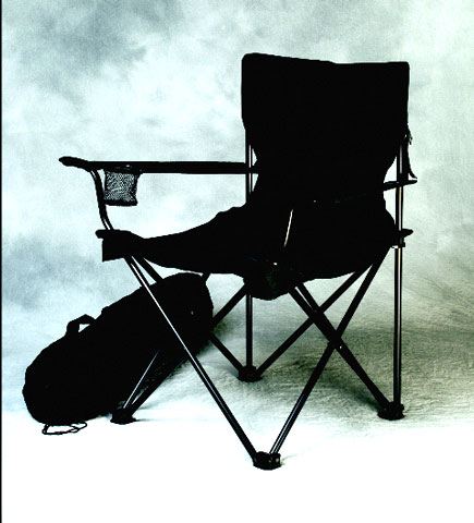C7 Corvette Folding Travel Chair with Screened C7 Corvette Logo