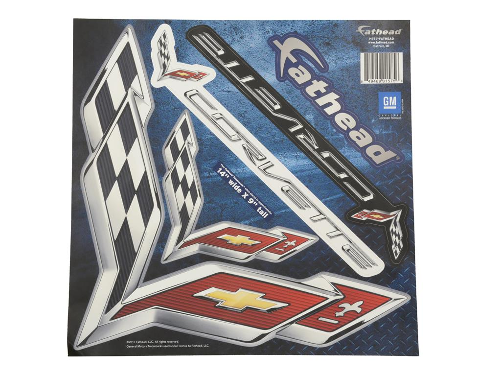 C7 Corvette C7 Logo Fathead Small Decal / Graphics Package