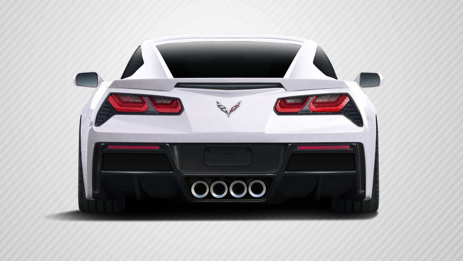 2014-2017 Chevrolet Corvette C7 Carbon Creations Gran Veloce Rear Diffuser- 1 Piece