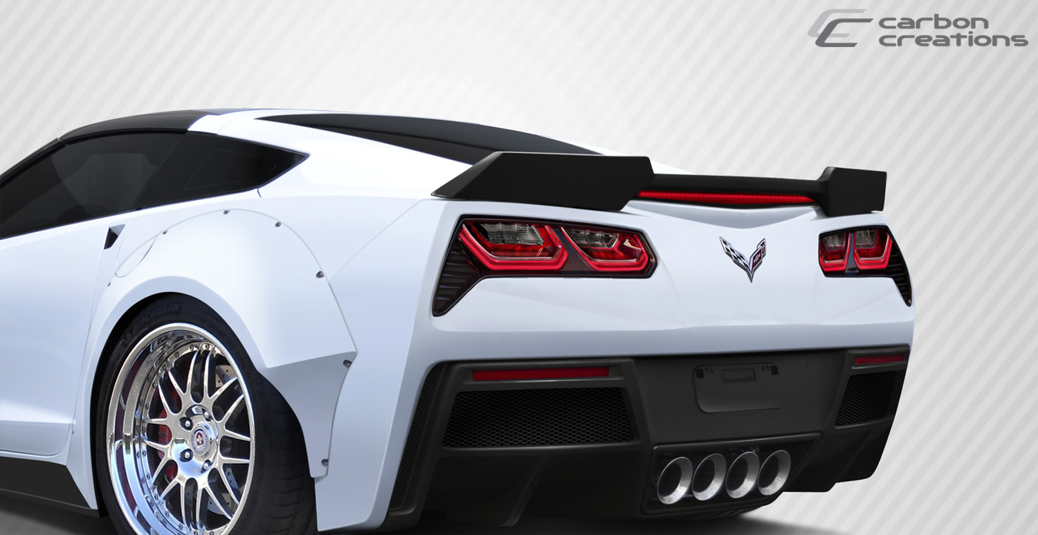 2014-2017 Corvette C7 Carbon Creations Gran Veloce Rear Wing Spoiler  1 Piece