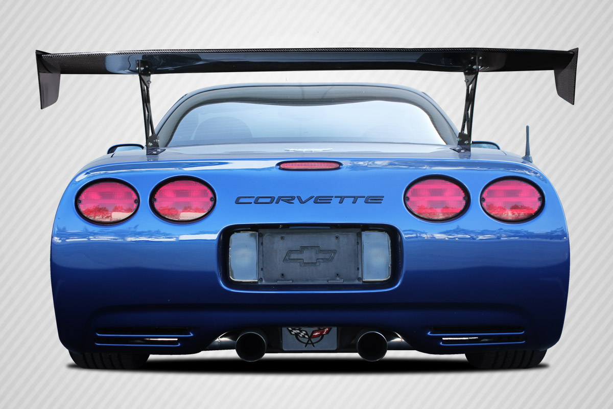 "Universal 70"" Carbon Creations DriTech VRX V1 Short Wing Complete Kit - 9 Piece, C5 Corvette and Others"