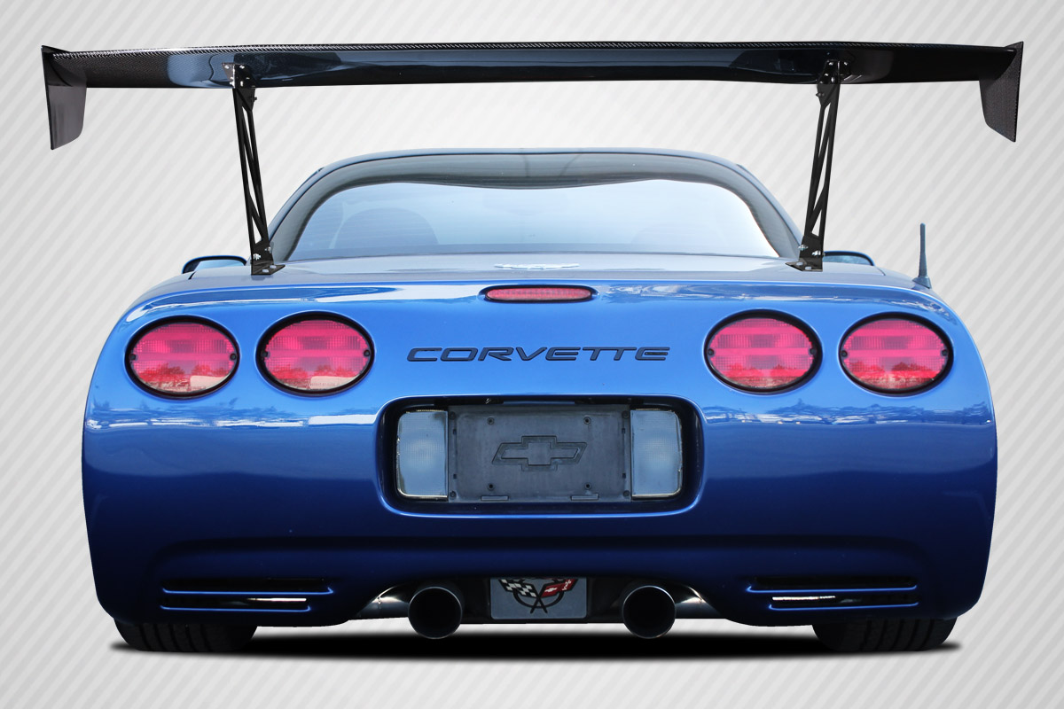 "Universal 70"" Carbon Creations DriTech VRX V1 Tall Wing Complete Kit - 9 Piece, C5 Corvette and Others"
