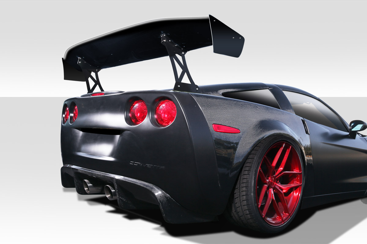 "Fiberglass Universal 74"" Duraflex VRX V2 Short Wing Complete Kit - 9 Piece, C6 Corvette and Others"