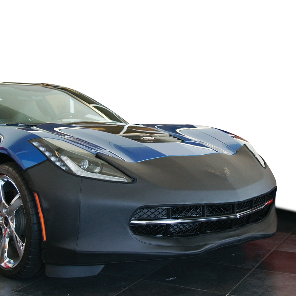 2014 C7 Corvette Stingray Colgan Colgan Original Bra with Cross Flags Logo, Carbon Style Vinyl