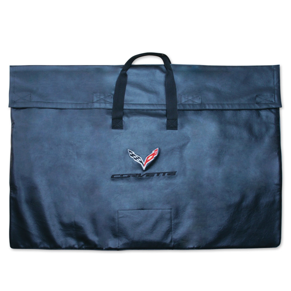 2014+ C7 Corvette Stingray Roof Panel Storage Bag with C7 Cross Flags Logo