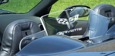 C6 Corvette 05-13 Convertible Wind Restrictor / Deflector with C6 Grand Sport Logo
