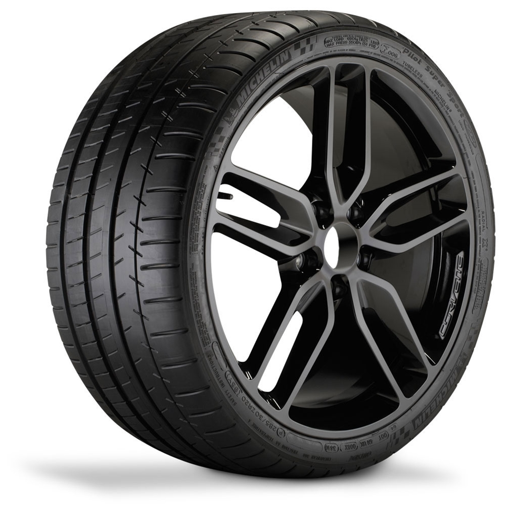"2014 C7 Corvette - Black GM Z51 Split Spoke Wheels, Front 19"" x 8.5"" Each"