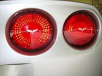 C6 2005-13 CORVETTE Tail Light Lens Emblem Decal Set