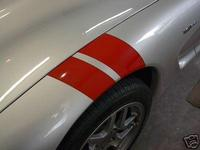 C4 or C5 Corvette Fender Decal Racing Stripes, Hash Marks, Grand Sport Stripes