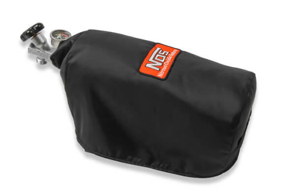 "NOS Nitrous Bottle Blanket, Black 7"" Diameter Bottle Blanket with Velcro Closure. For 10 lb Nitrous Bottles"