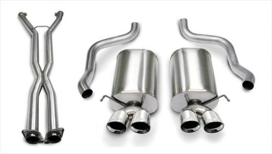 2.5 Inch Cat-Back Sport Dual Exhaust 3.5 Inch Tips 05-08 Corvette A6 Auto Trans 6.0L/6.2L Stainless Steel Corsa Performance