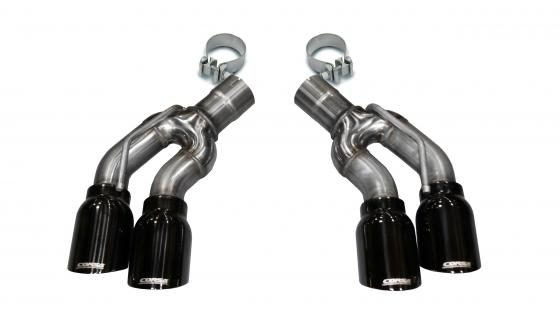 Two Twin 4.0 Inch Clamps Included Dual Rear Exit For Corsa Cadillac CTS-V Exhaust Only Stainless Steel Corsa Performance