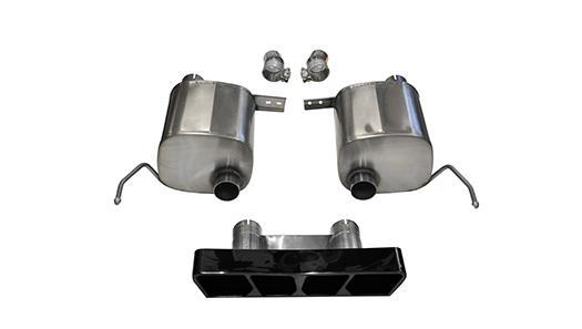 2.75 Inch Valve-Back Sport Exhaust Dual Rear Exit Polygon 14-Present Chevy Corvette C7 Plus Grand Sport 6.2L V8 Stainless Steel