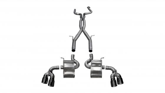 2.75 Inch Cat-Back Sport Dual Rear Exit Twin 4.0 Inch 16-Present Chevy Camaro SS/ZL1 Coupe 6.2L V8 Stainless Steel Corsa Perform