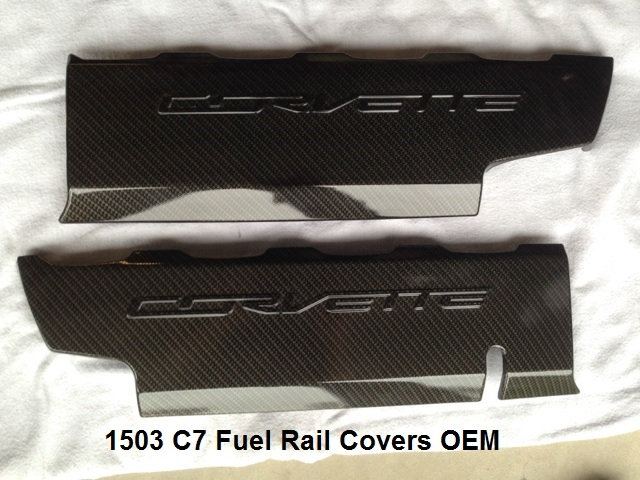 C7 Corvette, Custom HydroCarboned, Painted, Fuel Rail Covers, Pair, Direct Replacement
