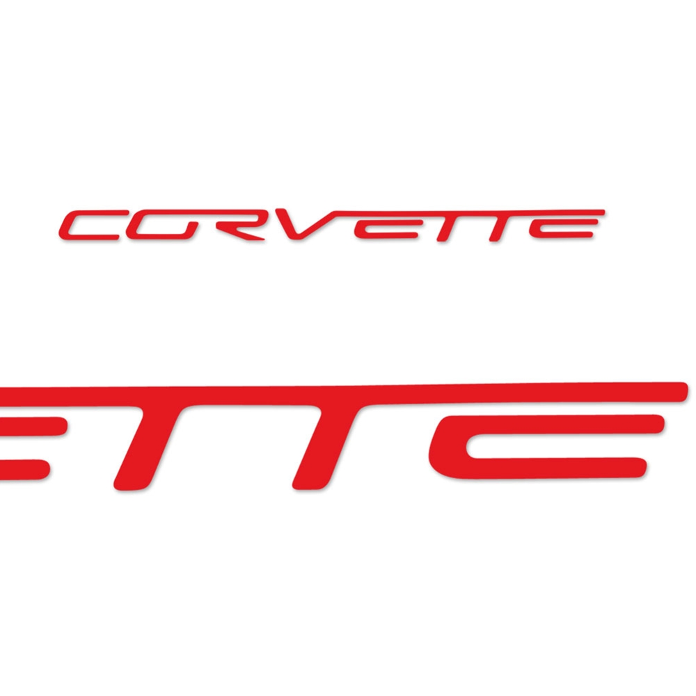 Corvette Vinyl Rear Bumper Insert / Decals Letter Set 2005-2013 C6, Z06, ZR1, Grand Sport