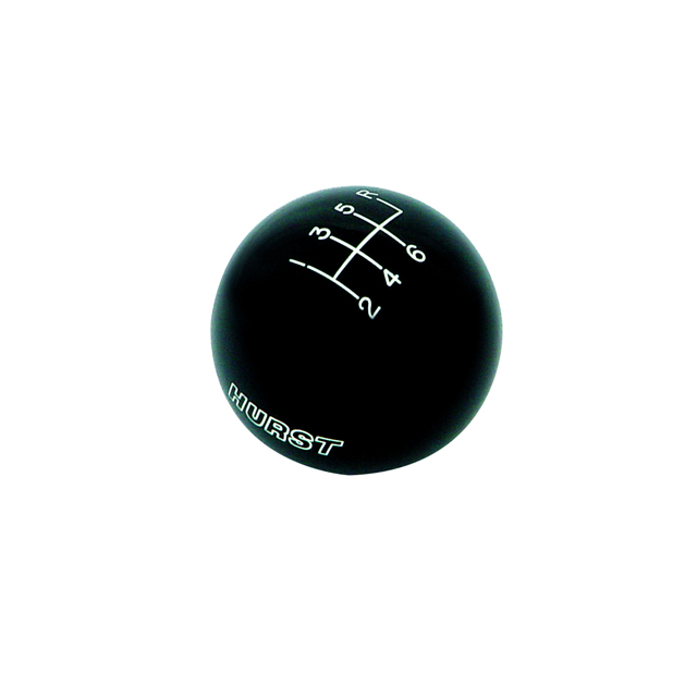 C5 Corvette Hurst Classic Shift Knob, Black- 6-Speed, 9/16-18 Thread