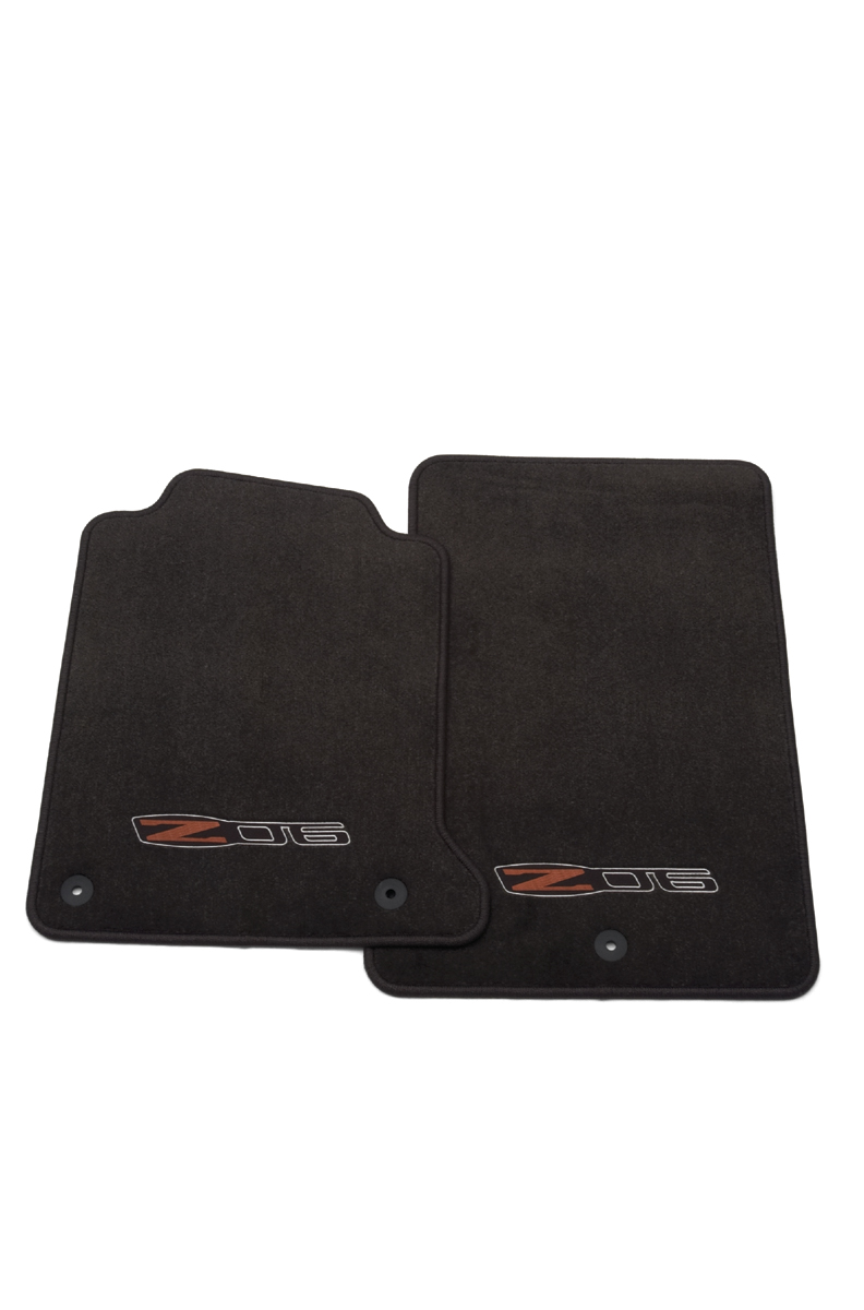 C6 Corvette GM Premium Floor Mat Set w/ C6/Z06 Logo 2008-2013 Late Style, Ebony