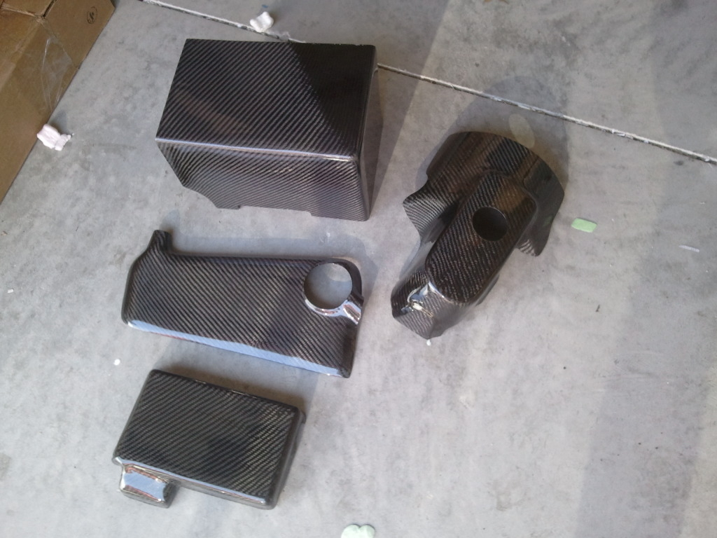 C6 Corvette Carbon Fiber Engine Dress Up Kit, 4 Piece