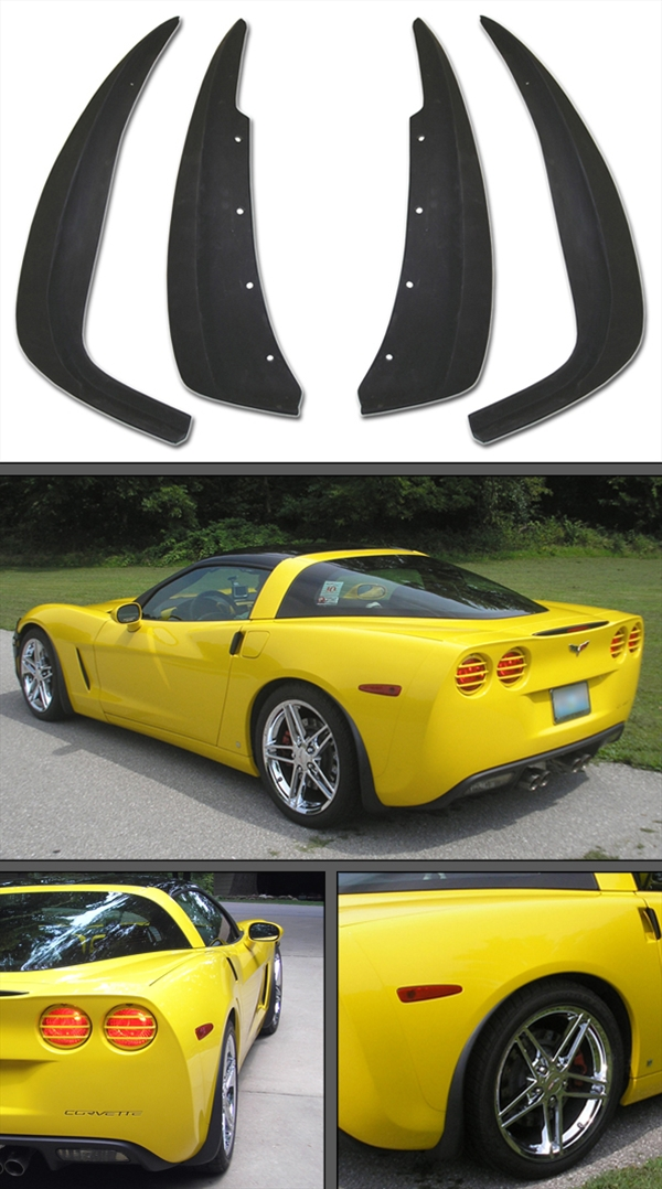 Genuine GM C6 Corvette Splash Guards, 2005-2013 Splash Guards