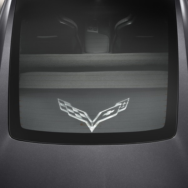 2014+ Corvette Stingray GM OEM Cargo Security Shade, Upper and Lower, with Logo