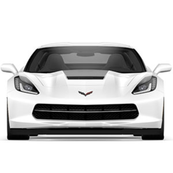 2014+ Corvette Stingray GM OEM Front Decal Package, Hood, Carbon Flash