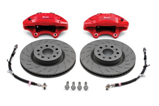 2016-2019 Camaro 6th Gen, GMPP Brembo Performance Front Brake Package Four-Piston Calipers, Camaro LS/LT