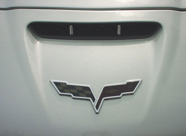 C6 Corvette Emblem Blackout Overlay - set of 2
