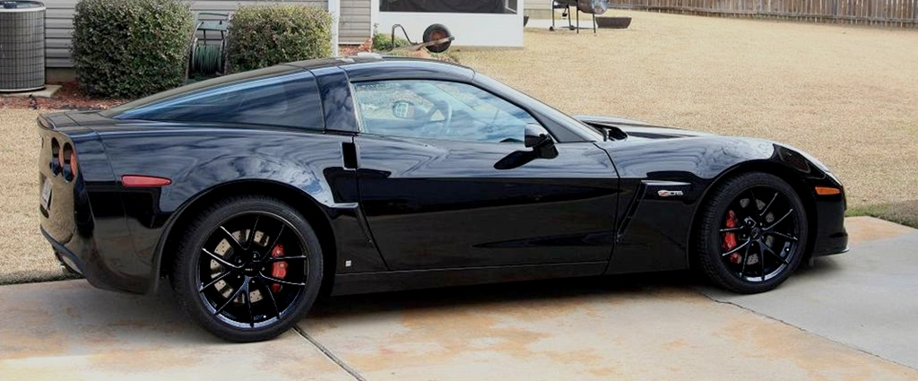 Corvette Wheel Exchange GM Z06 Spyder : Semi Gloss (Satin) Black Powder Coated