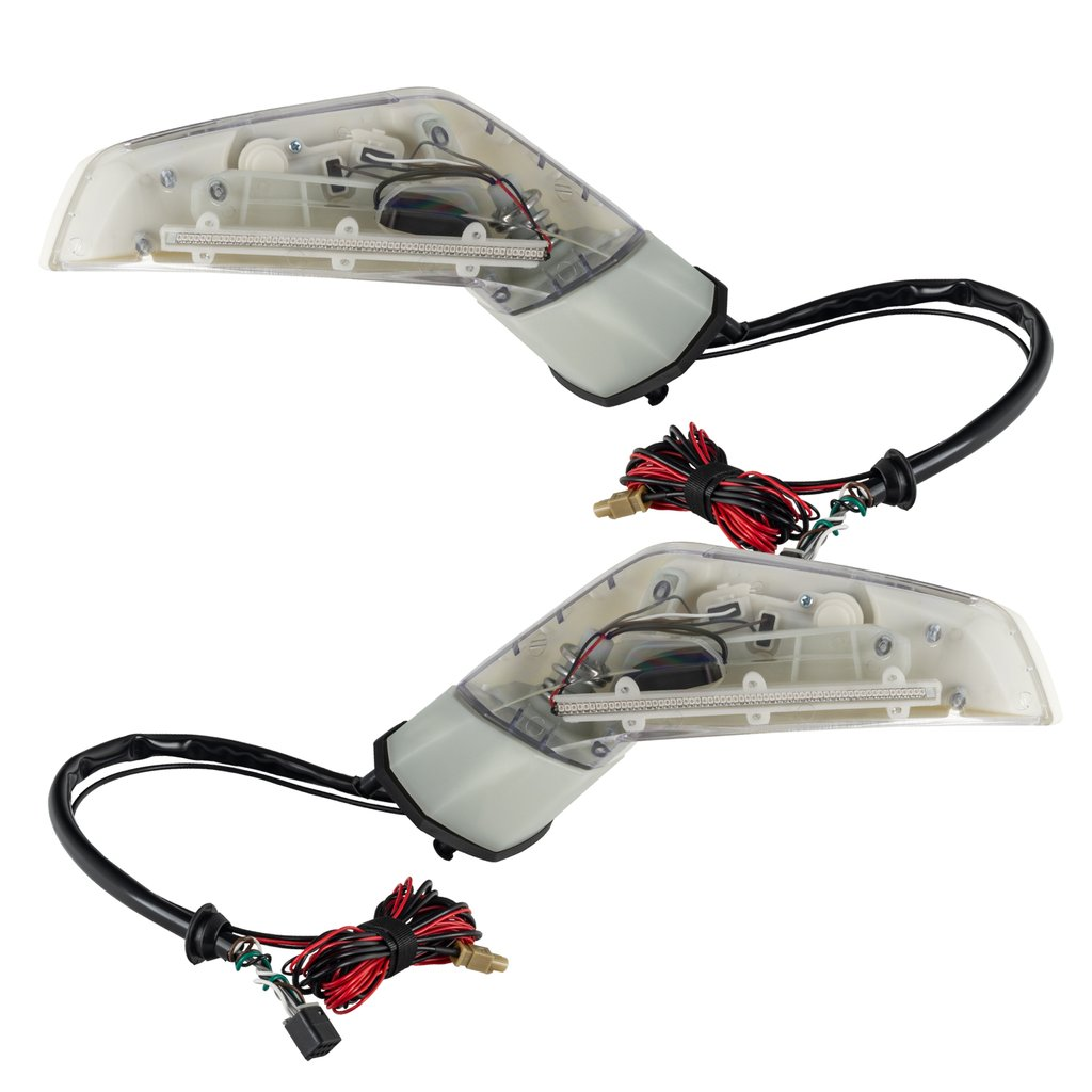 ORACLE C6 Corvette 97-13 Concept Side Mirrors, Pair, LED Lighted, C7 Style with NO XM Radio