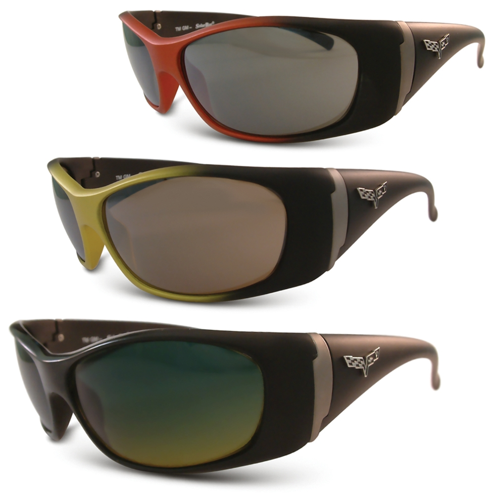 b9da3776ef0 Corvette Sunglasses with C6 FLAG Logo - Solar Bat Style 1003