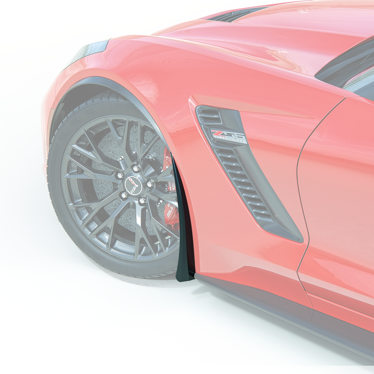 C7 Corvette ACS XL Front & Rear Wheel Rock / Splash Guards Set, Painted in Carbon Flash Metallatic