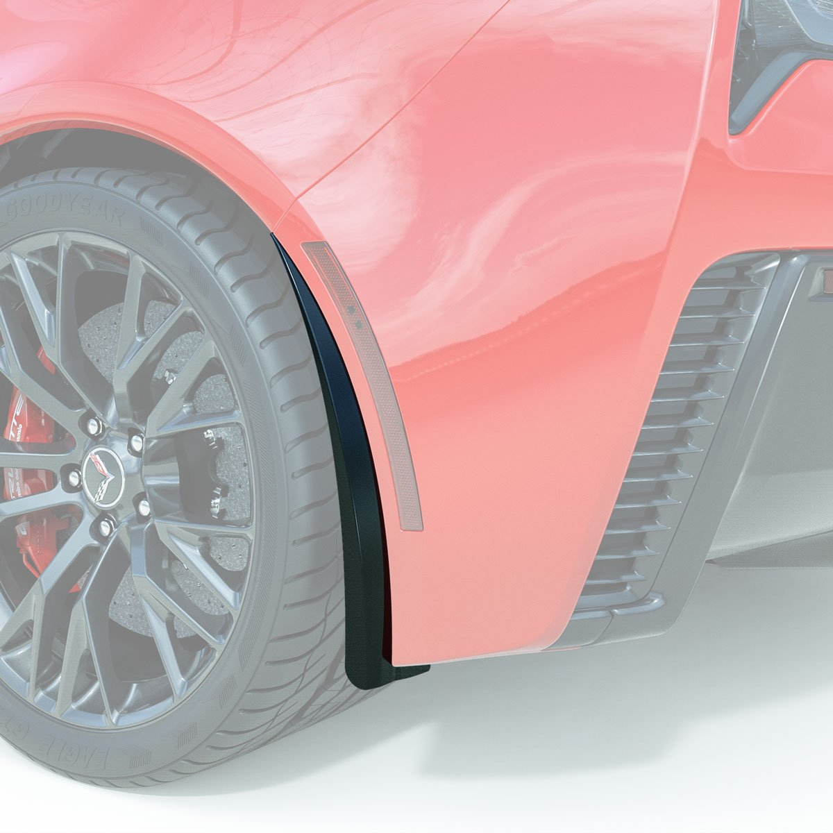 C7 Corvette ACS XL Rear Wheel Rock / Splash Guards, Pair, Painted in Carbon Flash Metallatic