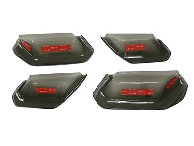 C7 Corvette 14-19 Molded Smoked Acrylic Tail Light Lens Blackout (Set of 4)
