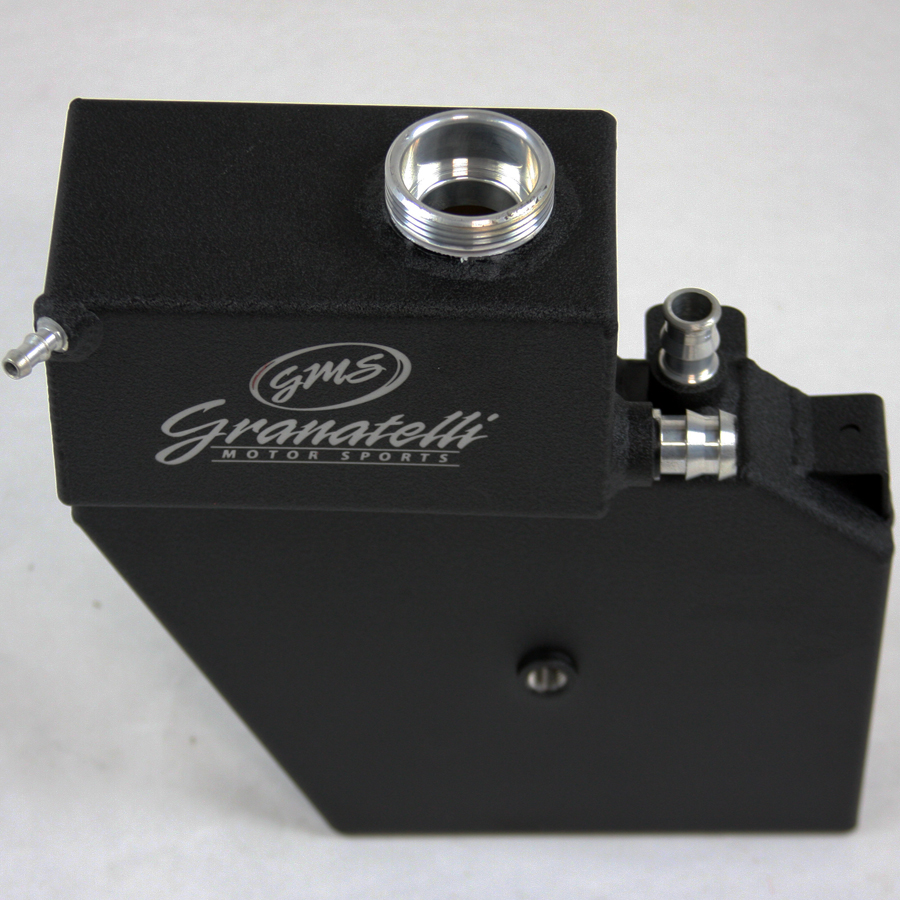 2014-19 Coolant Expansion Tank and Reservoir, Black Wrinkle Finish with Logo, Fits all CTS, ATS and Camaro, All Engines