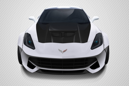 2014-2017 Chevrolet Corvette Carbon Creations Z06 Style Hood- 1 Piece