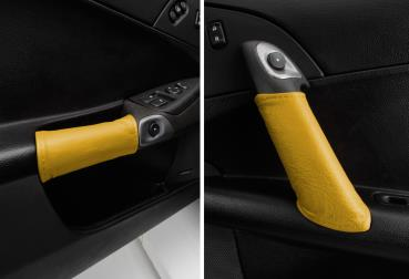 Door Pull Accent Leather Wraps, Pair, 2005-2013, C6 Corvette MAM