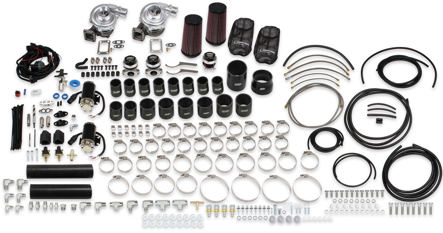 C6 Corvette Grand Sport STS Turbo Tuner Kit from Holley 2010-2013 Rear Mounted Twin Turbo System
