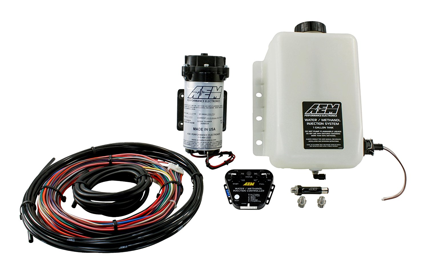 AEM V2 1-Gallon Water/Methanol Injection Kit with Multi-Input Controller for Corvette, Camaro and others