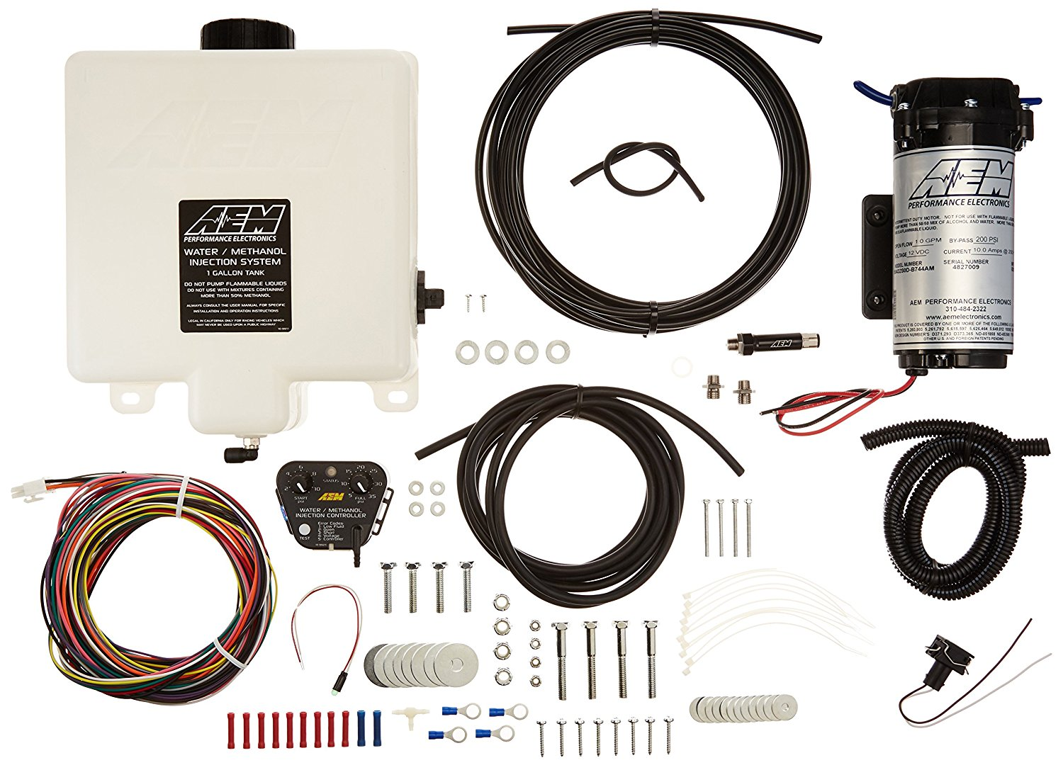 AEM V2 1-Gallon Water/Methanol Injection Kit with Internal MAP Sensor for Corvette, Camaro and others