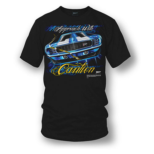 1969 Camaro Approach with Caution Tee Shirt Large -