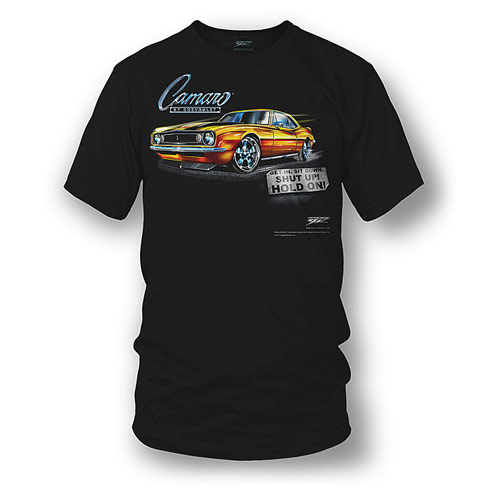 1967 Camaro Hold On Tee Shirt Large -A800SS-BK