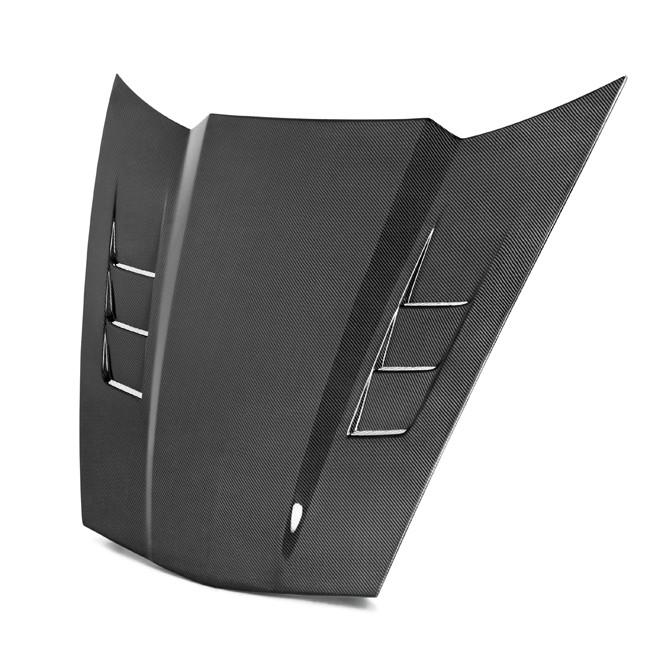 C6 Corvette 2005-2013 Real Carbon Fiber Type TS Hood with Side Vents