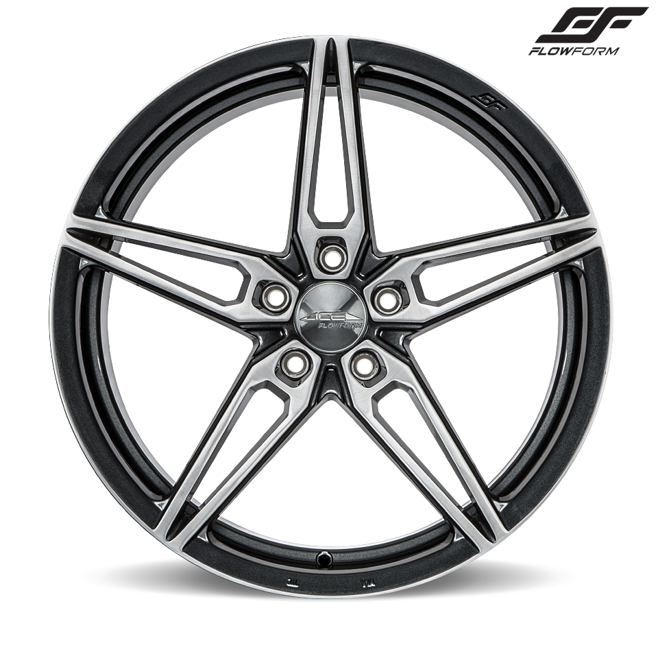 "C7 Corvette Z06 Ace Alloy AFF01 Wheel Set of 4, 2x 20"" x 11"" and 2x 20"" x 12"" Mica Grey Brushed Finish"