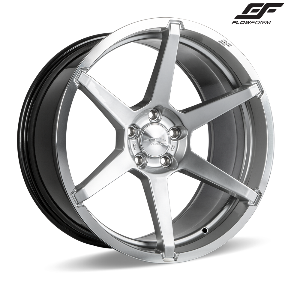 "C7 Corvette Z06 Ace Alloy AFF06 Wheel Set of 4, 2x 19"" x 10"" and 2x 20"" x 12"" Liquid Silver Finish"