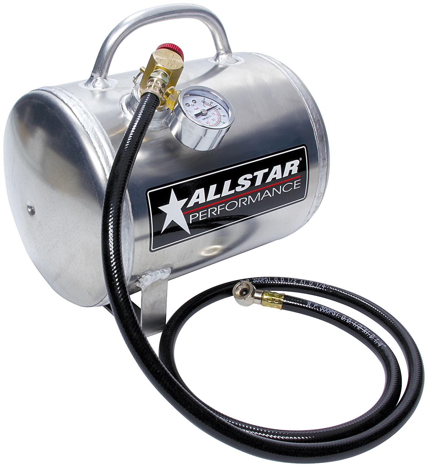 Corvette, Camaro, Track and Garage, Compressed Air Tank, Portable, 1-1/2 gal, Hose, Aluminum