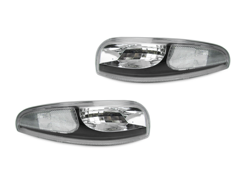 C5 Corvette DEPO Housing Crystal Clear Front Bumper Turn Signal Light Set 1997-2004 C5 & Z06